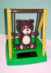 Solar Powered Swinging Bear Swings on Playground in Sunlight by Greenbriar Int $4.99