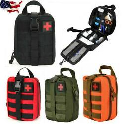 Durable Tactical MOLLE Rip-Away EMT IFAK Medical Pouch First Aid Kit Utility Bag $13.99