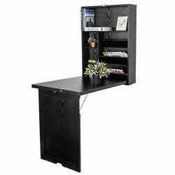 Floating Desk Wall Mounted Fold-Out Convertible Table Home LIving Room $189.39