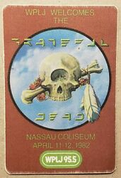 GRATEFUL DEAD 1982 WPLJ BACKSTAGE PASS Nassau Coliseum NY Terrapin Station RARE