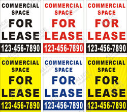 36quot; X 48quot; Custom COMMERCIAL SPACE FOR LEASE Banner Sign with Your Phone Number