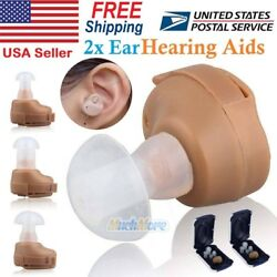1 2x K80 Rechargeable Digital Mini In Ear Hearing Aid Adjustable Tone Amplifier $18.99