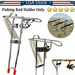 Portable Fishing Rod Bracket Dual Spring Fishing Pole Holder Automatic Rebound $18.99