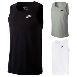 Nike Men#x27;s Tank Top Embroidered Logo amp; Swoosh Muscle Tee Cotton Tagless T Shirt $15.97