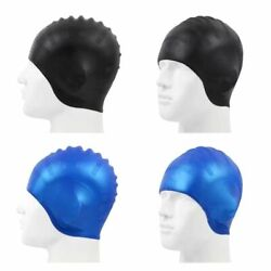 Durable Silicone Swimming Cap With Ear Pockets Protect Ears Adult Bathing Caps $10.99