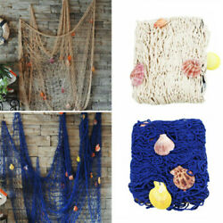 Nautical Fishing Net Seaside Wall Beach Party Seashells Home Garden DIY Decor $9.99