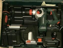 """Metabo KHA 18LTX BL24 Quick Set ISA 1"""" SDS Rotary Hammer w Dust Collection Kit $219.00"""