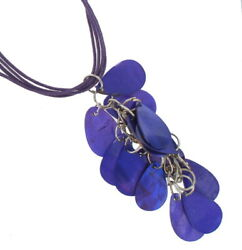 Necklace Pendant Sexy Mother Of Pearl Tassel Chandelier Purple 17 19quot; $9.31