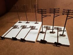 11 ATLAS HO TELEPHONE POLES WITH EXTENDED ARM TYPE EXCELLENT CONDITION SS 15 $7.95