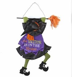 Witch is in the House Wall and Front Door Hanging Decoration for Halloween $16.98