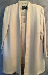 SL Fashions Dress Suit Stretch Waist Skirt Long Jacket amp; built in Top Sz 16W $24.99