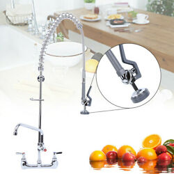 Commercial Wall Mount Kitchen Restaurant Pre Rinse Faucet Swivel Add On Tap