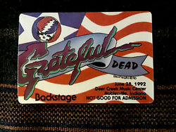 Grateful Dead Backstage Pass 6281992 Noblesville IN - Grateful Dead Flag