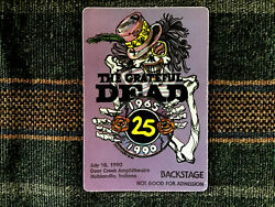 Grateful Dead Backstage Pass 7181990 Noblesville IN - GD 25th Anniversary