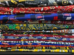 NCAA COTTON Fabric 14 yard piece 9 inches X 42 inches ---Choose your team $5.00