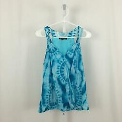 INC International Concepts NEW Women's Size Large Blue Patterned Tank Top NWOT