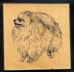 POMERANIAN DOG BREED 24013 House Pet Puppy STAMP GALLERY New Wood Mount Rubber $7.99