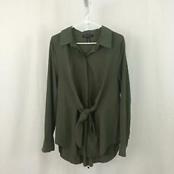INC International Concepts NEW Women's Size X-Large Green Button Down Shirt NWOT