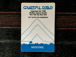 Grateful Dead Backstage Pass 4201988 Madison Square Garden NYC