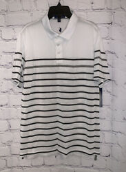 Polo Ralph Lauren Boys Size XL 18 20 Shirt White with Blue Gray Stripe $12.71