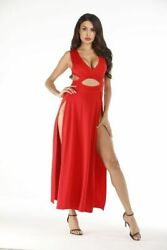 Cocktail beach sundress Loose Maxi Dresses Casual Party V Neck Long Sleeve $23.05
