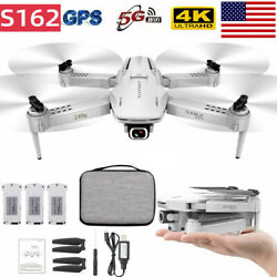 S162/S161 GPS RC Drone w/ Camera 4K 5G WIFI FPV Aerial Drone Gesture Photo Video $53.19