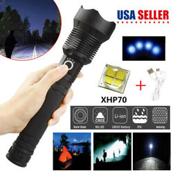 High Power 200000 Lumens XHP70 Zoom Flashlight LED Rechargeable Torch Camp Lamp $22.98