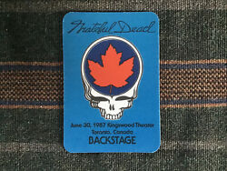 Grateful Dead Backstage Pass 6301987 Toronto Canada - Very Rare!