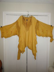 Native American leather shirt horse hair bone and glass bead adorned-handmade $1,000.00