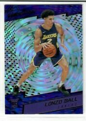 LONZO BALL 2017 18 Panini Revolution Basketball #111 FRACTAL RC ROOKIE Pelicans
