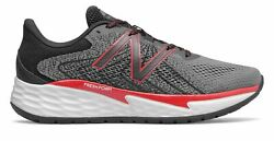 New Balance Men#x27;s Fresh Foam Evare Shoes Grey with Red $37.04
