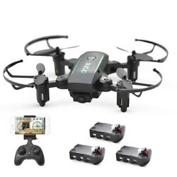 Linxtech IN1601 2.4G 720P Wifi Foldable Altitude Hold RC Drone Gift W/3Batteries $41.19