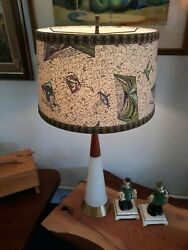 Vintage Mid Century Modern Retro Table Lamp and Shade $150.00