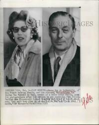 1957 Press Photo Baron Guy de Rothschild and Marie Helene announce marriage $19.99