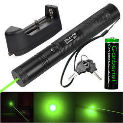 Military 532nm Green Laser Pointer Pen Lazer Visible Beam Light 18650 Charger US $12.95