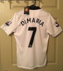 Di Maria Manchester United Jersey 20142015 7 RARE NWT White Nike Small Football $50.00