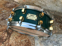 Yamaha Maple Custom Green 14 x 5.5 Snare Drum!! w Gold lugs $639.99