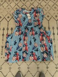Hazel Blue Plus Size Floral Maxi Dress With Sleeves $40.00