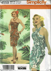 PATTERN for Misses' LUAU DRESS Theresa LaQuey Sizes 14-20 UNCUT Simplicity 4559 $9.99