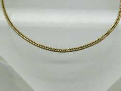 THIN 14k Yellow Gold Wheat Chain Weave Woven 1.6mm Plain Bracelet 7quot; Long $174.95