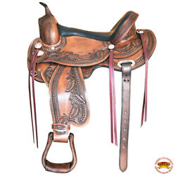 16 Western Horse Saddle American Leather Trail Pleasure Flex Tree Hilason U-Z-16 $479.95