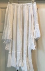 NWT Elan Womens Bell Sleeve Off Shoulder COVER UP One Size White Boho Chic NEW $14.99
