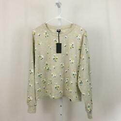 CIRCLEX Nordstrom NEW Women#x27;s Large Gray Daisy Patterned Long Sleeve Shirt NWT $14.97