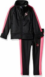 Puma Little Girls#x27; Tricot Jacket and Legging Set Ages 2 7 Years $19.99