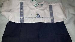 Vintage For Baby Boy New Navy Blue One Pc Short all Size 3 Month by Will#x27;Beth $20.00
