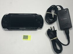 Sony PSP 2001 Slim Black Handheld System Console w Charger NO BATTERY  $59.99