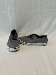 Vans Off The Wall Girls Black Denim With White Dots Shoes size 3.5 Y $18.00