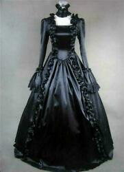 Gothic Dress Lady Lolita Victorian Ruffle Steam punk Evening Vintage Costume