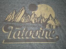 Mens STAR WARS Shirt Size 2X EUC quot;Welcome to Tatooinequot; Heather Gray $6.99