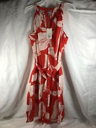 Sleeveless Cotton Summer Dress Red and White A New Day L Floral $4.99